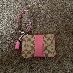 Coach wristlet. Gently used.